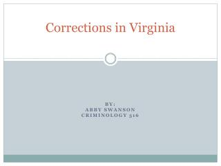 Corrections in Virginia