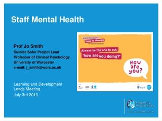 Staff Mental Health