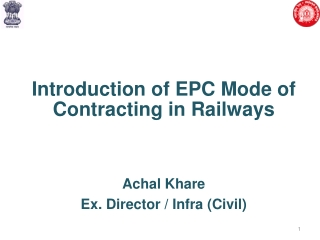 NEED FOR EPC CONTRACT
