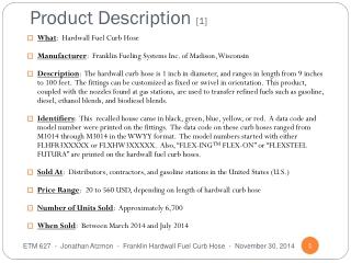 Product Description  [1]