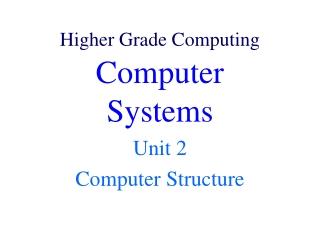 Higher Grade Computing