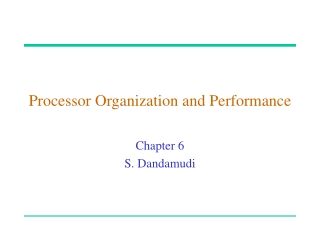 Processor Organization and Performance