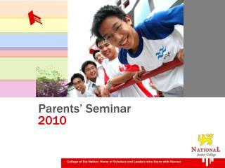 Parents' Seminar