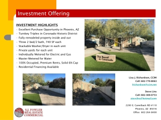 Investment Offering