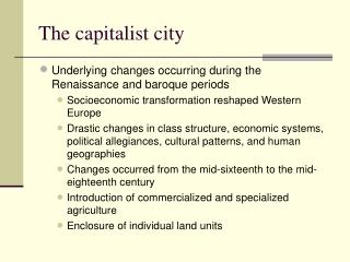 The capitalist city