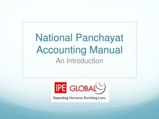 National Panchayat Accounting Manual