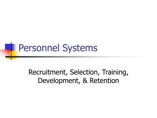 Personnel Systems