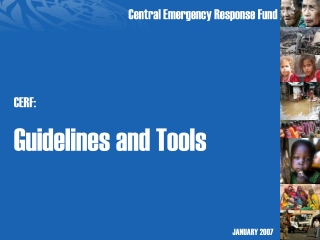 CERF: Guidelines and Tools