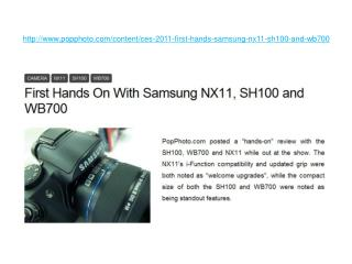 First Hands On With Samsung NX11