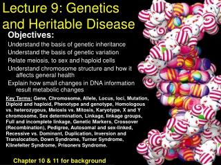 Lecture 9: Genetics and Heritable Disease