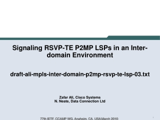 Requirements for inter-domain P2MP tree computation