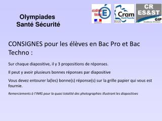 Olympiades  Santé Sécurité