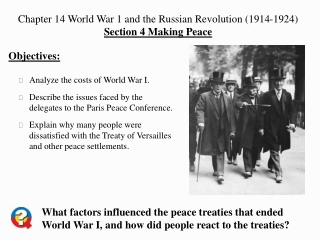 Analyze the costs of World War I.