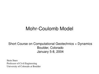 Mohr-Coulomb Model