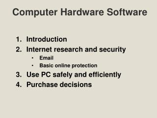 Computer Hardware Software