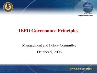 IEPD Governance Principles