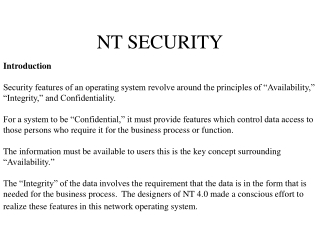NT SECURITY