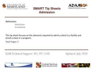 Admission Admission Enrollment
