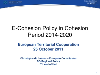 E-Cohesion Policy in Cohesion Period 2014-2020