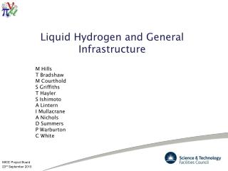 Liquid Hydrogen and General Infrastructure