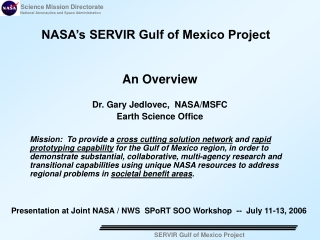 NASA's SERVIR Gulf of Mexico Project