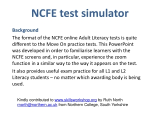 NCFE test simulator