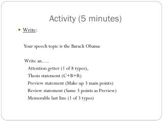 Activity (5 minutes)