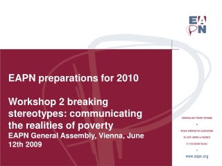 EAPN p reparations for 2010