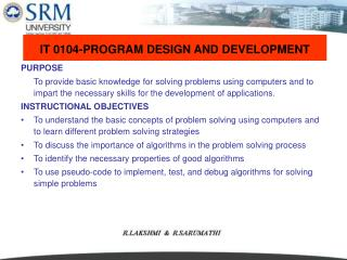 IT 0104-PROGRAM DESIGN AND DEVELOPMENT