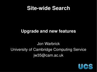 Site-wide Search