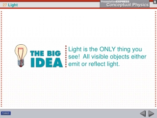 Light is the ONLY thing you see!  All visible objects either emit or reflect light.