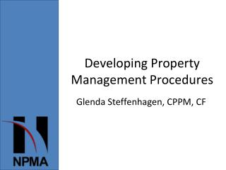 Developing Property Management Procedures