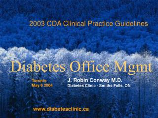 2003 CDA Clinical Practice Guidelines