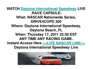 NASCAR Nationwide Series Live Stream 17/02/2011 DRIVE4COPD