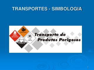 TRANSPORTES - SIMBOLOGIA