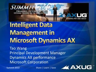 Intelligent Data Management in Microsoft Dynamics AX