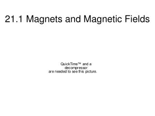 21.1 Magnets and Magnetic Fields