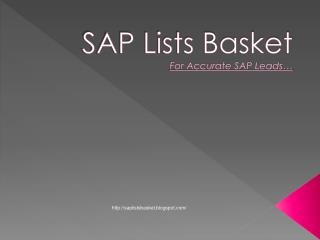 SAP Lists Basket - Largest SAP Users Database Provider