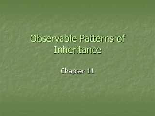 Observable Patterns of Inheritance