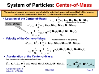 System of Particles:  Center-of-Mass