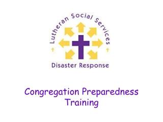 Congregation Preparedness Training