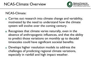 NCAS-Climate: