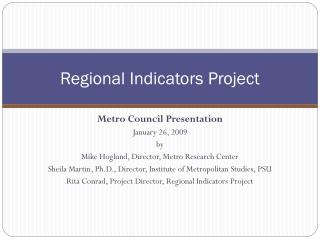 Regional Indicators Project