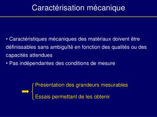 Caract risation m canique