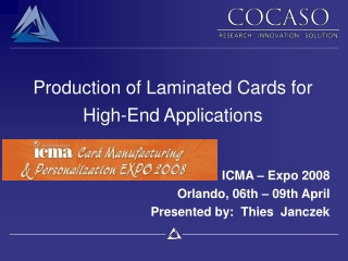 Production of Laminated Cards for High-End Applications