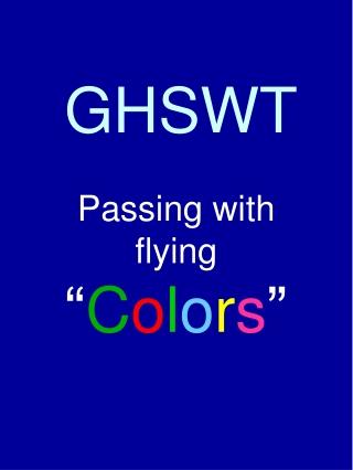 GHSWT