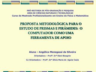 PROPOSTA METODOLÓGICA PARA O ESTUDO DE PRISMAS E PIRÂMIDES:  O COMPUTADOR COMO UMA FERRAMENTA DE APOIO
