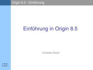 Einführung in Origin 8.5
