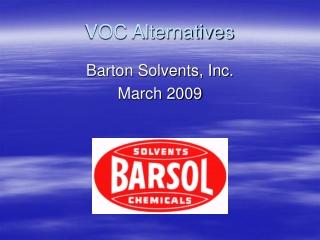 VOC Alternatives