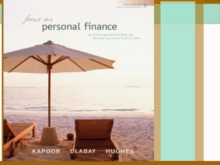 Personal Financial Planning in Action